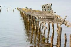 stary pier drewna Zdjęcia Royalty Free