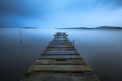stary pier drewna Fotografia Royalty Free
