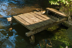 stary pier drewna Obraz Royalty Free