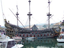 Stary pirata statek w Włochy obraz royalty free