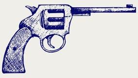 stary pistolet ilustracja wektor