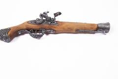 Stary pistolet na białym tle Obraz Stock