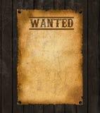 stary plakat chcieć western Zdjęcia Stock