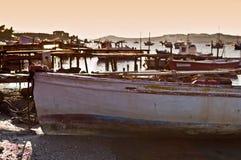 stary połowowych łodzi Obrazy Royalty Free
