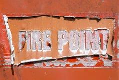 Stary Pożarniczy punktu znak Zdjęcia Royalty Free