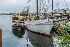 Stary połowu marina w Kopenhaga schronieniu obrazy stock