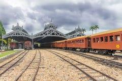 Stary pociąg &-x28; Maria Fumaca&-x29; Świętego John Del Reja staci miasto zdjęcie royalty free