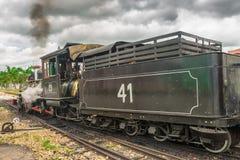 Stary pociąg &-x28; Maria Fumaca&-x29; w świętego John Del Reja mieście obraz royalty free