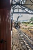Stary pociąg &-x28; Maria Fumaca&-x29; w świętego John Del Reja mieście zdjęcia stock