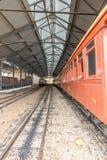 Stary pociąg w świętego John Del Reja dziejowym mieście zdjęcia stock