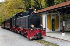 Stary pociąg w Grecja obrazy stock