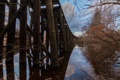 Stary pociągu most Lowell, masowy książe spaghetti pociąg Obraz Royalty Free