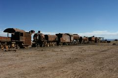 stary pociąg rdzewieje przewozu Zdjęcia Royalty Free