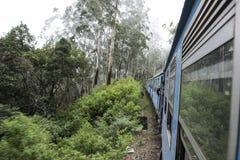 Stary pociąg w herbacianych plantacjach Ella, Sri Lanka Fotografia Stock
