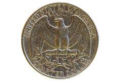 Stary podławy menniczy kwartalny dolar Fotografia Royalty Free