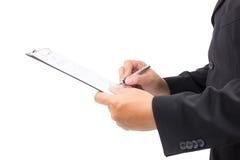stary podpisanie umowy biznesowe Obrazy Stock