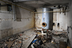 stary pokój z kotłów Obraz Royalty Free