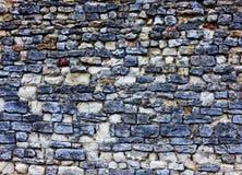 Stary popielaty kamiennej ściany tło Zdjęcie Royalty Free