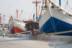 Stary port Dżakarta Obraz Royalty Free