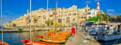 Stary port Jaffa część tel, teraz Fotografia Stock