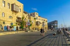 Stary port Jaffa część tel, teraz Obrazy Stock