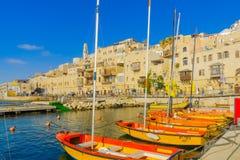 Stary port Jaffa część tel, teraz Zdjęcie Royalty Free
