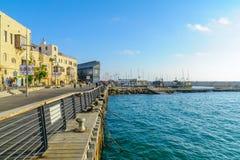 Stary port Jaffa część tel, teraz Obraz Stock