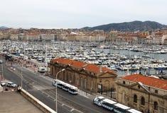 Stary port Marseille w Południowym Francja Zdjęcie Royalty Free