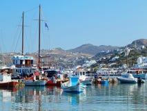 Stary port na Mykonos wyspie w Grecja Fotografia Stock