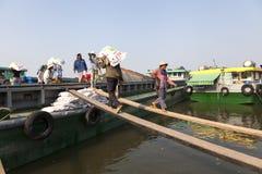 Stary port na Saigon rzece Fotografia Stock