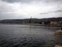 Stary port Trieste Obrazy Royalty Free