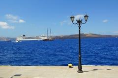 Stary port w Fira Zdjęcie Royalty Free