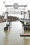 Stary port w Holandia Fotografia Royalty Free