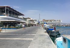 Stary port w Limassol Zdjęcia Stock
