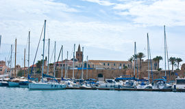 Alghero port Obraz Royalty Free