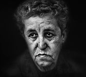 stary portret kobiety Obrazy Stock