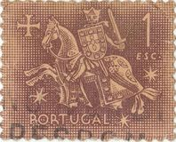 Stary portuguese znaczek pocztowy Obrazy Royalty Free