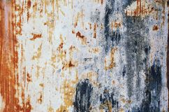 Stary, porysowany, antyczny błękit, metal tekstura fotografia stock