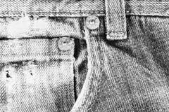 Stary postrzępiony niebiescy dżinsy zbliżenie Zdjęcie Royalty Free