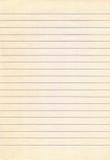 Stary prążkowany notatnika papieru tło Obraz Royalty Free