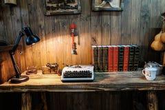 Stary pracujący biurko Fotografia Stock