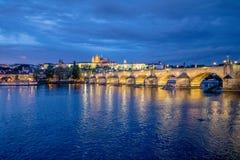 Stary Praga widzieć od Novotny footbridge Obraz Stock