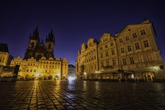 stary Prague placu miasta fotografia stock