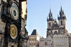 stary Prague placu miasta Zdjęcia Royalty Free
