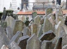 stary Prague żydowski cmentarz Zdjęcie Stock