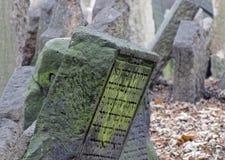 stary Prague żydowski cmentarz Fotografia Royalty Free