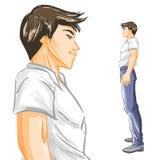 stary profil młody przystojni Fotografia Stock