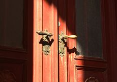 stary przednie drzwi Zdjęcie Stock