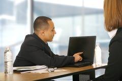 stary przedstawiający laptopa biznes Fotografia Royalty Free