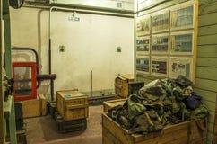 Stary, przemysłowy wentylacja system w piwnicie zaniechany schron, obraz stock